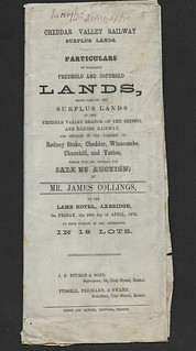 Cheddar Valley Railway sale of surplus lands notice 1872 | by ian.dinmore
