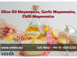 Olive Oil Mayonnaise, Garlic Mayonnaise, Chilli Mayonnaise