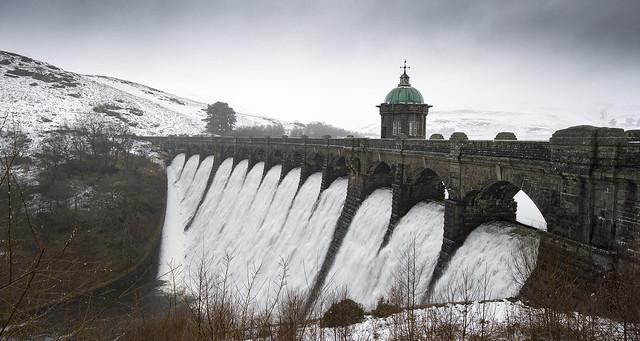 Craig Goch Dam, Elan Valley in the snow.