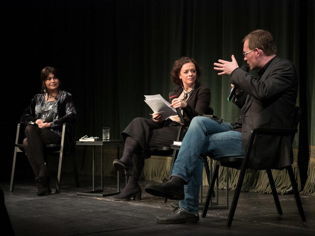 Mira Magén, Shelly Kupferberg, Clemens Meyer (vlnr)