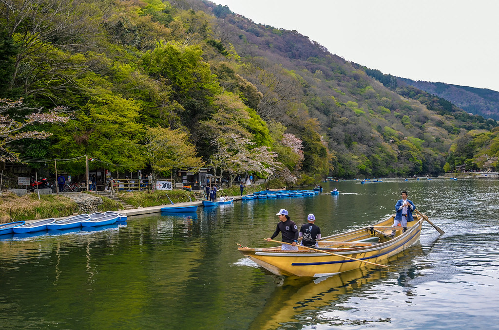 Boat up close Arashiyama