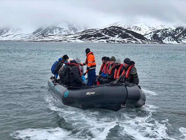 Zodiak en Svalbard