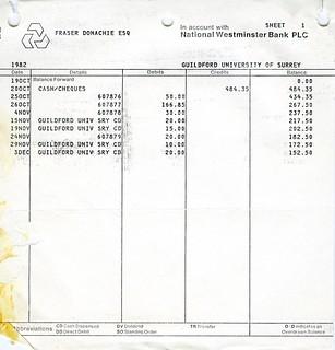 Bank Statement   Sheet 1   1982