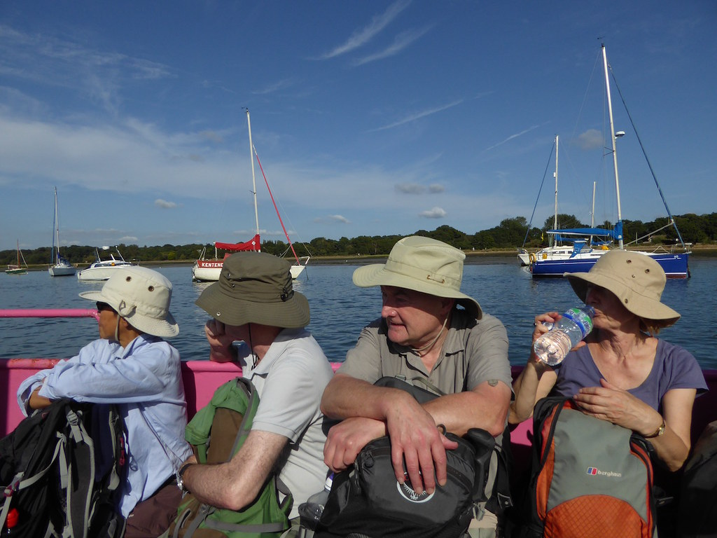 On the ferry Botley to Netley walk