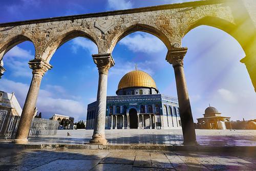 domeoftherock jerusalem israel sunrise