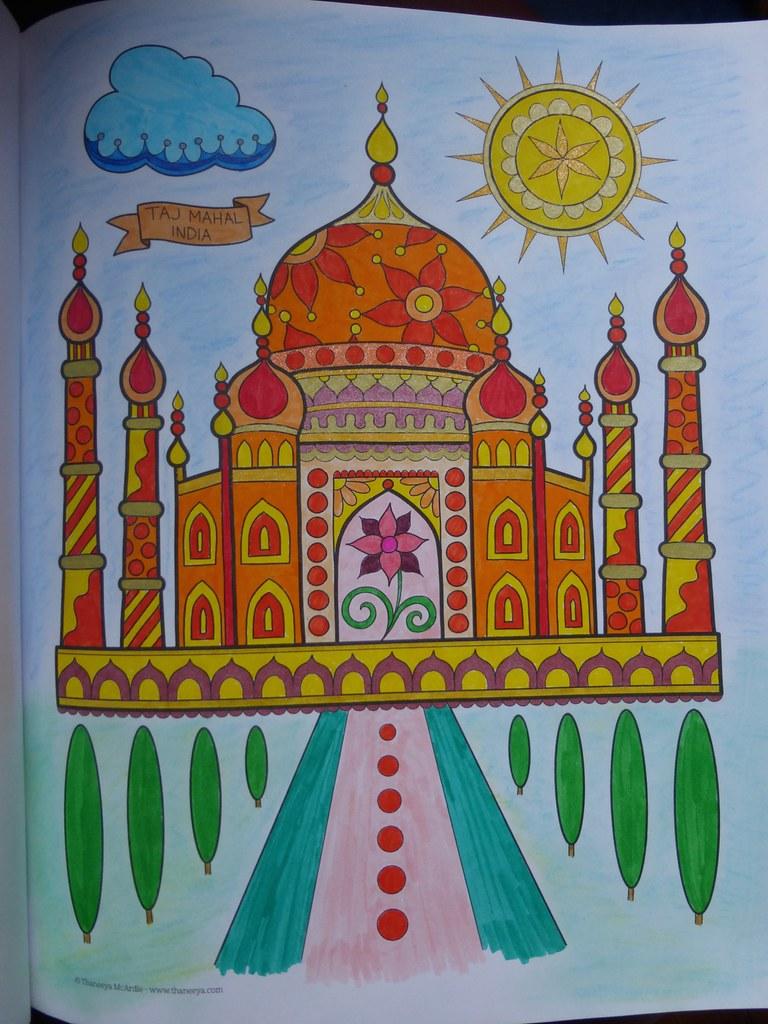 Happy Coloriage 2 Voyages Autour Du Monde Feutres Gel