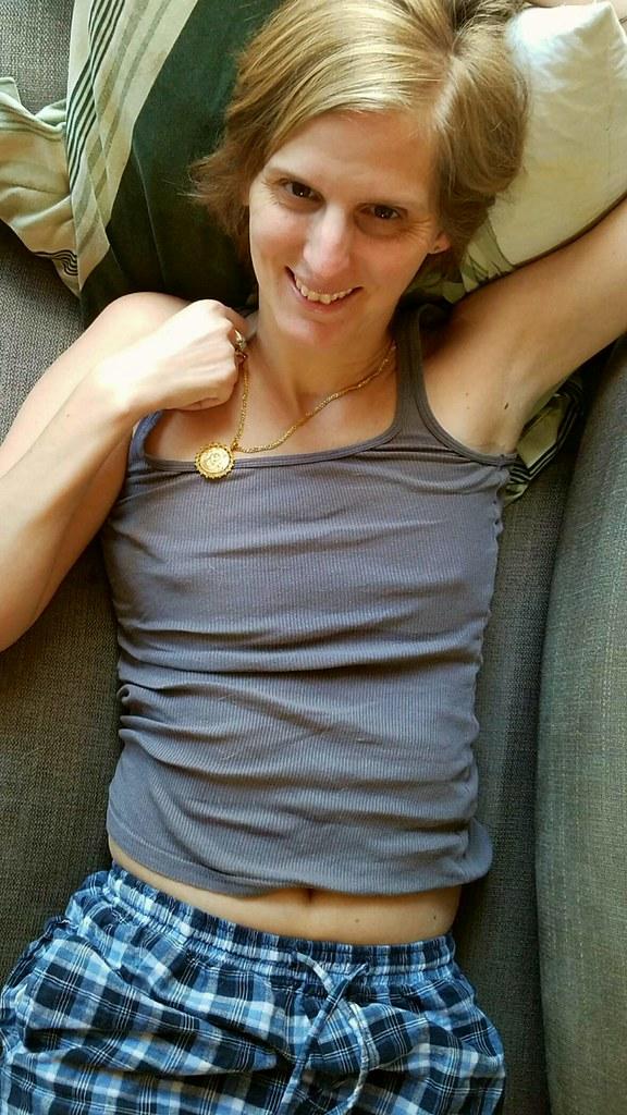 Good morning. #sexy #wife #hottie #braless #tanktop #pajam