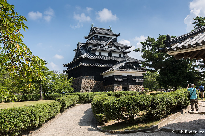 El castillo de Matsue o castillo del chorlito