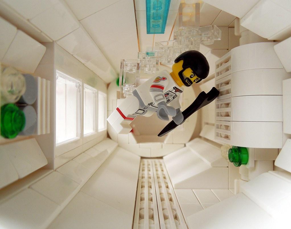 Space - Zero Gravity - White Corridor   Commander Bruce is a…   Flickr