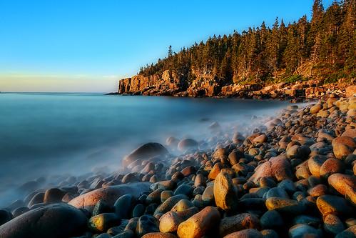 acadia acadianationalpark beach boulderbeach boulders costline goldenhour maine ocean ottercliff findyourpark nps100 acadia100 acadianp acadianps golden insiteimage