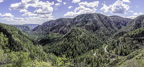 trees arizona nature clouds landscapes woods rocks panoramas cliffs roads vacations canyons forests hdr oakcreekcanyon hdrpanoramas