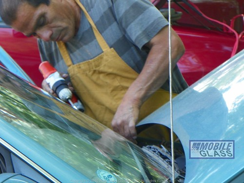 Mobile Glass Technician Removing Cowl For Windshield Replacement | by mobileglass