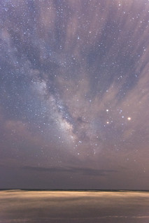 milky way over atlantic ocean, kiawah island, sc | by adam*b