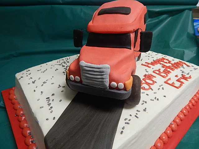 Incredible 3D Semi Truck Cake Gina Morello Flickr Funny Birthday Cards Online Alyptdamsfinfo