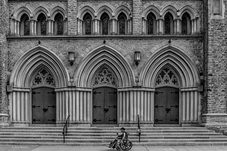 Wheeling past St. Paul church, Bloor Street - Toronto | by Phil Marion (177 million views - THANKS)