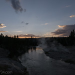 Firehole River at sunset