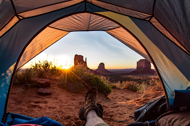 Monument Valley Tent View