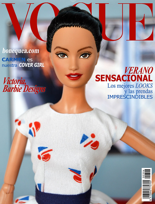 Vogue magazine: Ooak Barbie. Carmen