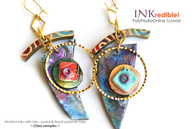 INKredible Polymer - Polymer and alcohol ink | PolyPediaOnline Tutorial by Iris Mishly