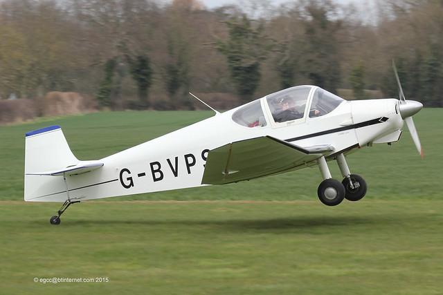G-BVPS - Amateur build Jodel D.112, landing on Runway 10 at Breighton