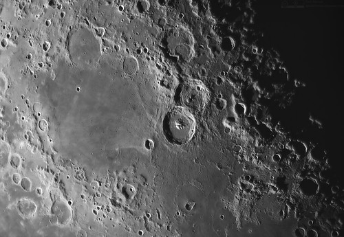 Mare Nectaris with craters Theophilus and Cyrillus (center) | by upsidedown astronomer