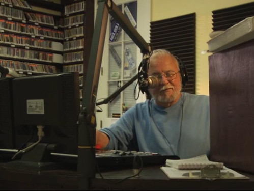 Billy Delle on his longtime WWOZ show 'Records From The Crypt,' a still from the new documentary 'One Note At A Time'