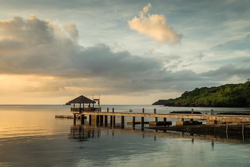 ocean sunset dock palau koror palaupacificresort fujixpro1