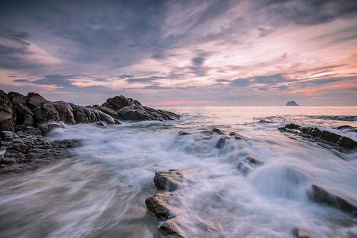 sky cloud rock sunrise outdoors dawn scenery 北海岸 taiwan wave 台灣 wanli 海浪 晨曦 northseacoast 外木山 礁岩 newtaipei 新北市 萬里區 浪絲