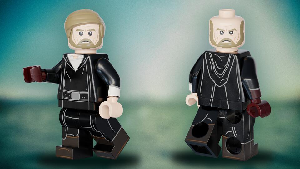 The Legendary Luke Skywalker Crait 3d Custom Lego Star Flickr