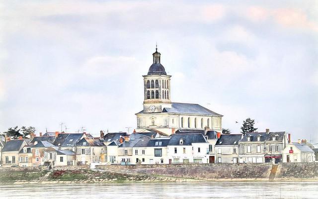 Le clocher de Saint-Mathurin à 16h36.