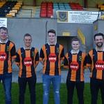 L to R: Darren Wood, Christopher Hay, Cory Ritchie, Alexander Jack & Gary McGowan