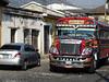 Antigua Guatemala, tzv. kuřecí autobusy, foto: Petr Nejedlý