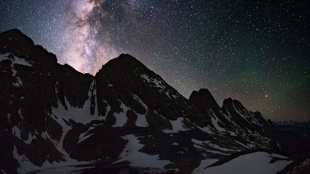 Milky Way and the Grenadier Mountians