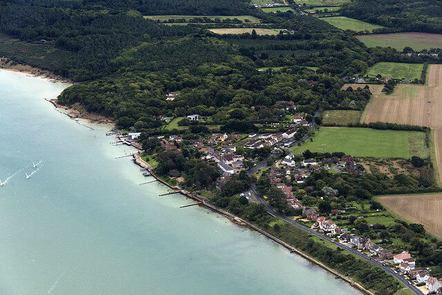 Bouldnor - Isle of Wight aerial