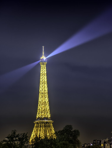 Eiffel Tower at MIdnight | by Charles Patrick Ewing