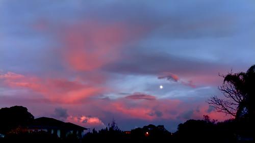 sunrise moonset morning perth mosmanpark cloud
