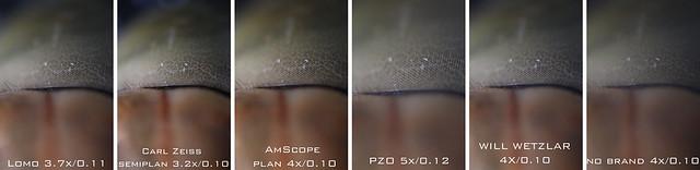 Microscope Obective Comparasion