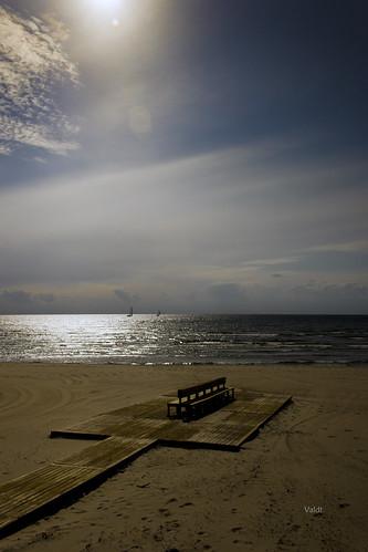 sea sky beach water strand coast skåne seaside sand sweden himmel sverige hav kust lomma bänk
