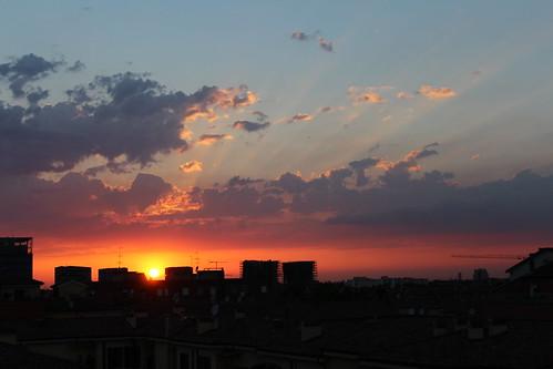 sunset italy tramonto bologna littlemanhattan