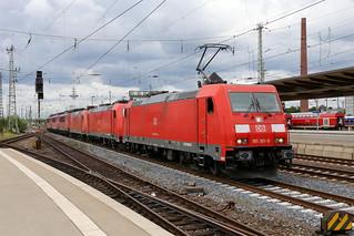DB Cargo 185 301-9, 185 298-7, 145 079-0, 155 087-0, 155 128-2, 155 036-7, Bremen