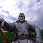 Genghis Khan in grassland
