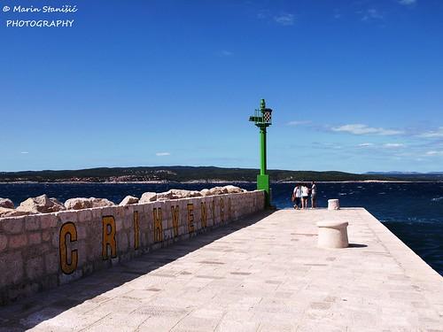 crikvenica croatia lighthouse summer adriatic sea