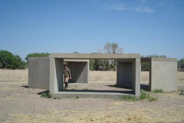 Donald Judd sculptures