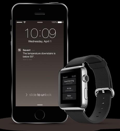 iPhone & Apple Watch with Savant App