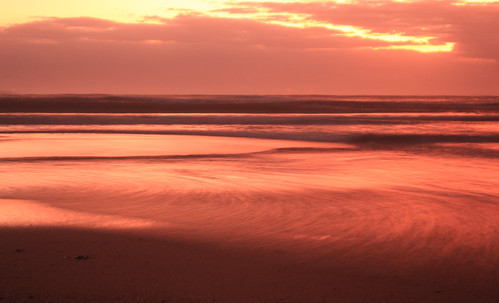 beach sunrise reflections sand seashore