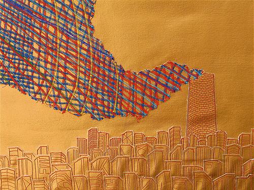 "Steve MacDonald ""Gold City Smoke"" detail"
