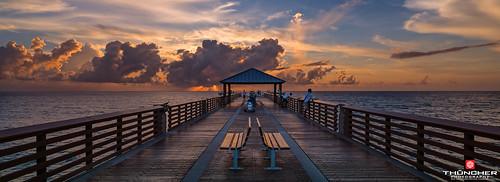 sky nature clouds sunrise landscape outdoors pier fishing florida sony scenic jupiter fullframe fx atlanticocean waterscape junobeach oceanscape junobeachpier southeastflorida zeissfe1635mmf4zaoss a7r2 ilce7rm2 sonya7r2