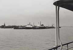 Harwich harbour with the Viking III (RoRO) docked