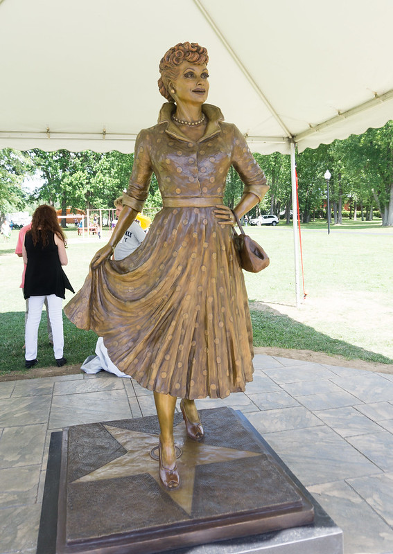 Dedication of I Love Lucy Statue in Lucille Ball Memorial Park, Celoron, N.Y., Aug. 6, 2016