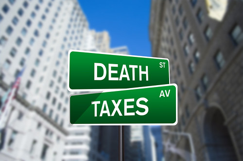 Death And Taxes Street Sign On Wall Street | by investmentzen